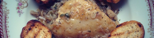 Fish fillet, cooked with capers and white wine