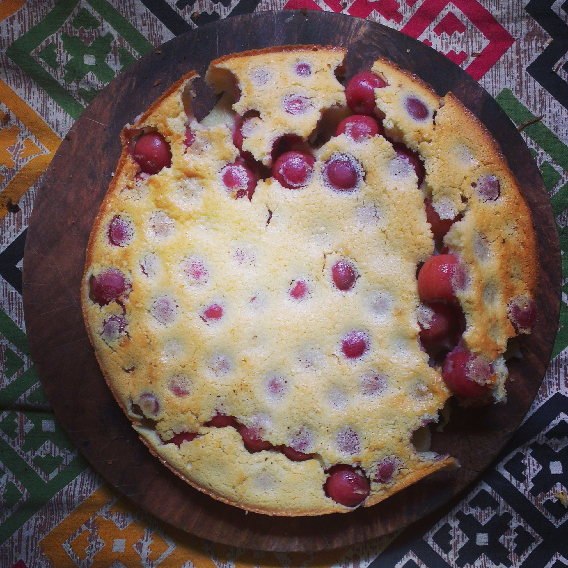 Cherry Clafoutis attempt 1