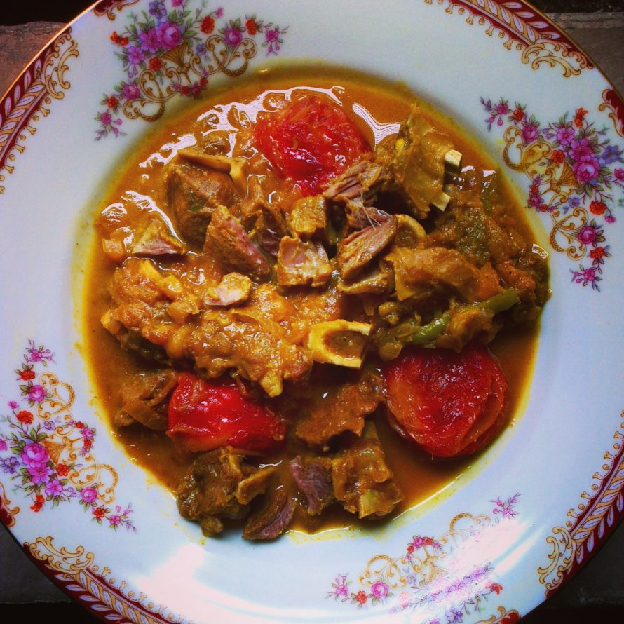 Persian Lamb Curry with Plums