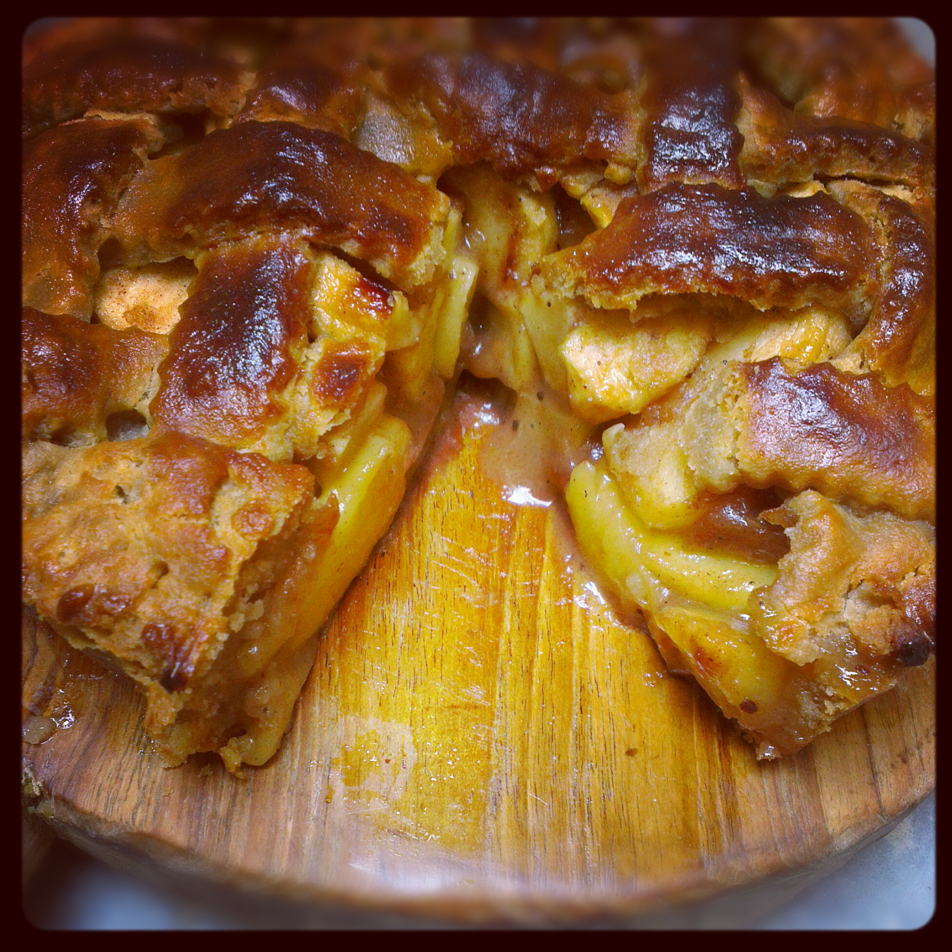 Apple Pie, with a latticed top