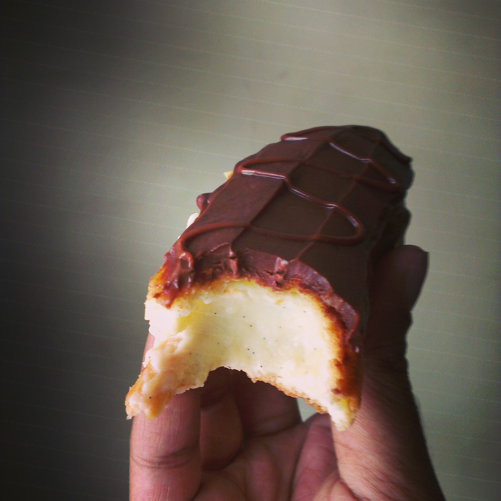 Chocolate Eclair Cross Section