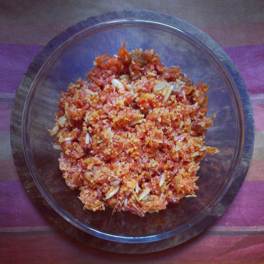 Gajar or carrot halwa